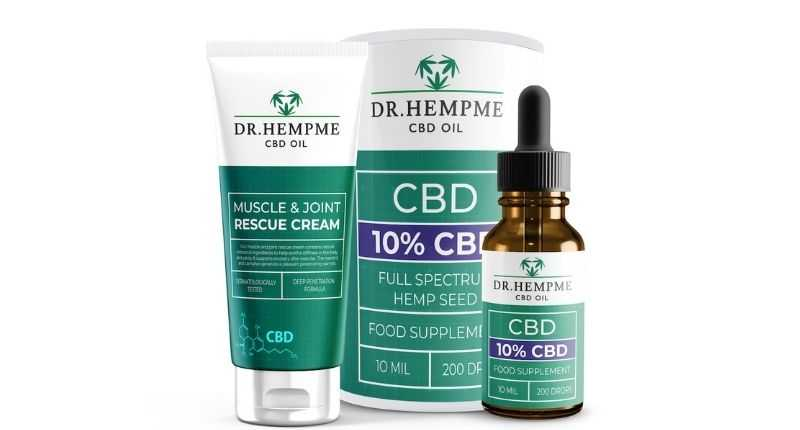 cream for skin and cbd oil food supplement