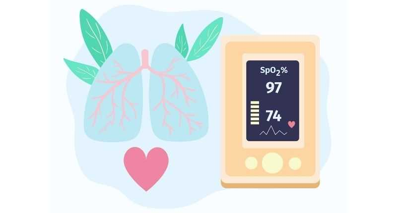 percentage oxygen pulse oximeter