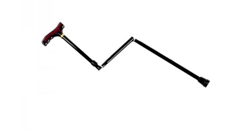 Adjustable Folding Walking Stick - Black