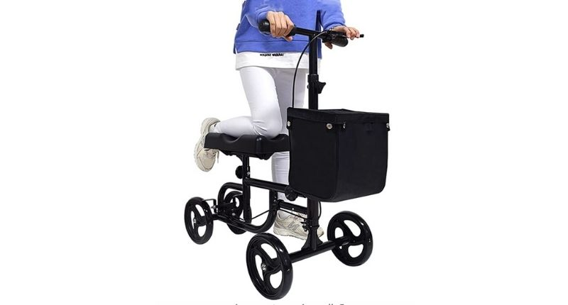 Knee scooter for Adults Foldable with Basket Heavy Duty Knee Walker