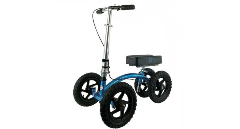 KneeRover QUAD All Terrain Knee Walker in Metallic Blue