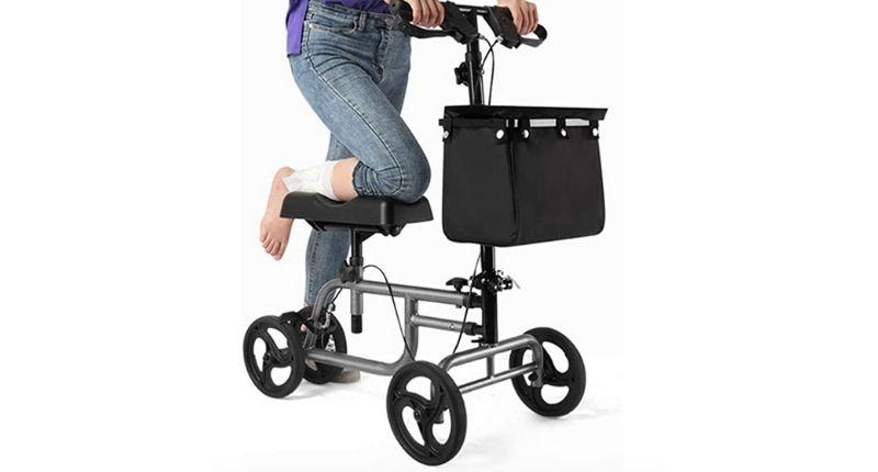 PINGJIA Steerable Knee Walker Scooter Foldable