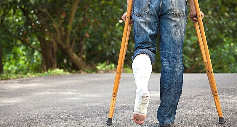 crutches for walking when injured