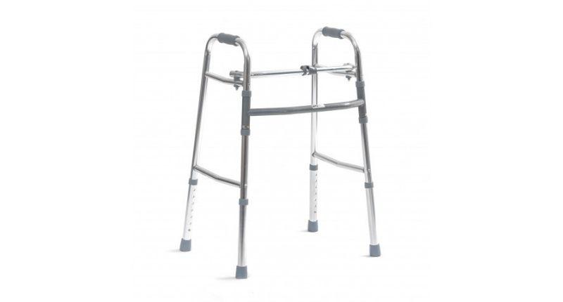 folding adjustable walking aid for people