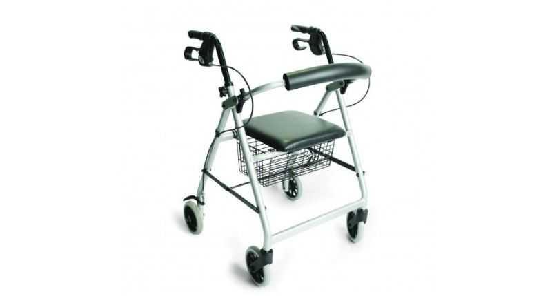lightweight rollator model silver option