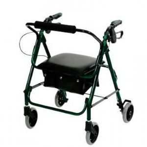 low seat light rollator green colour frame