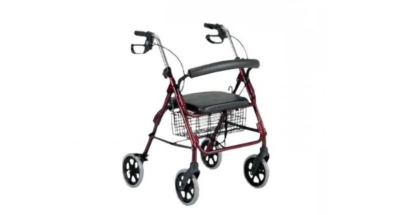 patterson medical four wheeled rollator