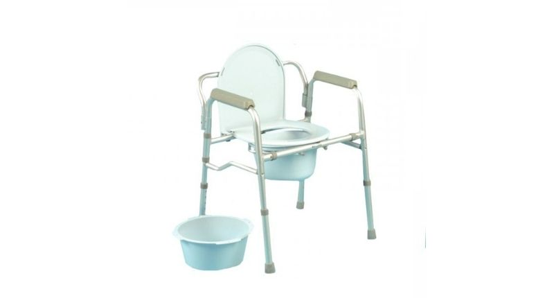 #5 Days Folding Commode and Toilet Surround